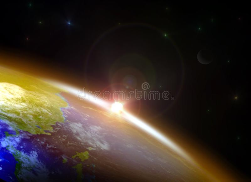 Zonsopgang over de Horizon vector illustratie