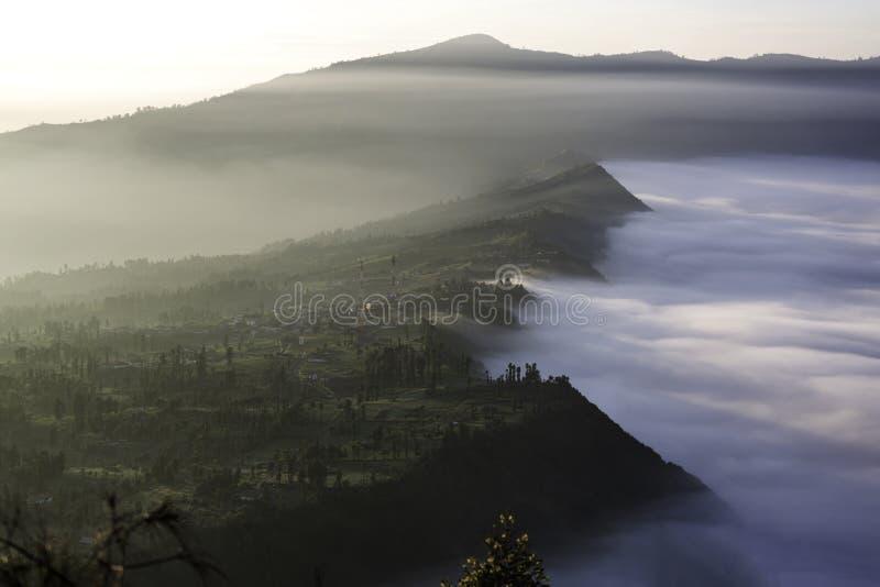Zonsopgang over Mt Bromo, Java, Indonesië royalty-vrije stock foto