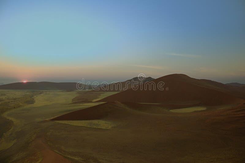 Zonsopgang over Woestijn Namib royalty-vrije stock foto