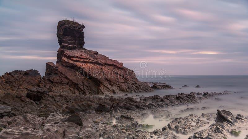 Zonsopgang in Playa DE Portizuelo royalty-vrije stock foto