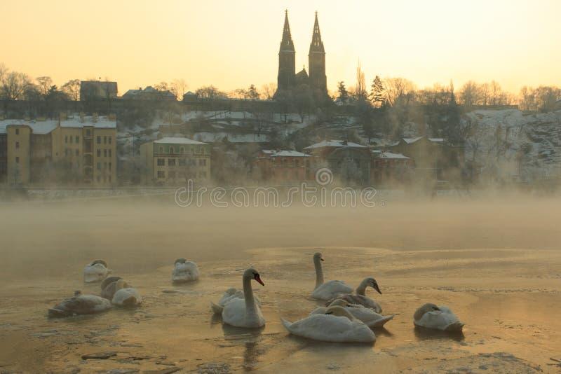Zonsopgang in Praag royalty-vrije stock foto