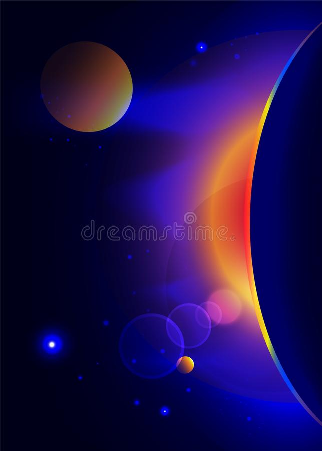 Zonsopgang in ruimte royalty-vrije illustratie