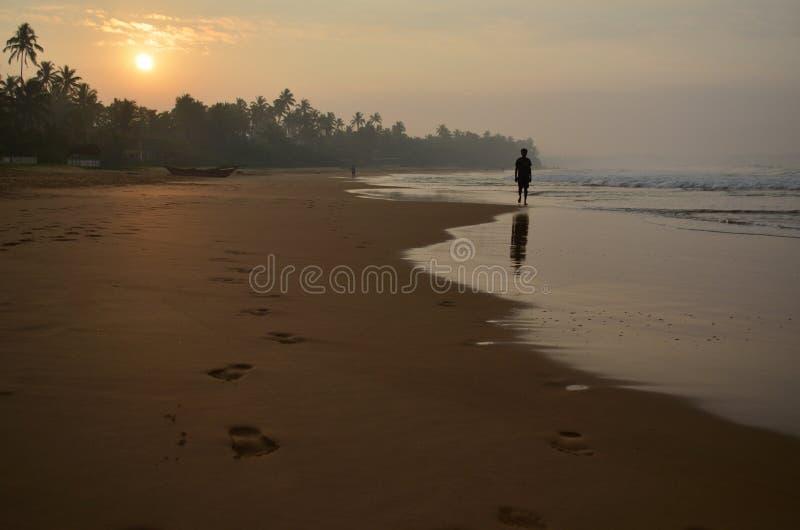 Zonsopgang, Sri Lanka stock afbeelding