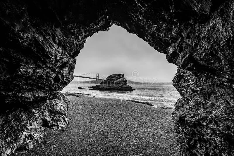 Zonsopgang van Kirby Cove Beach stock afbeelding
