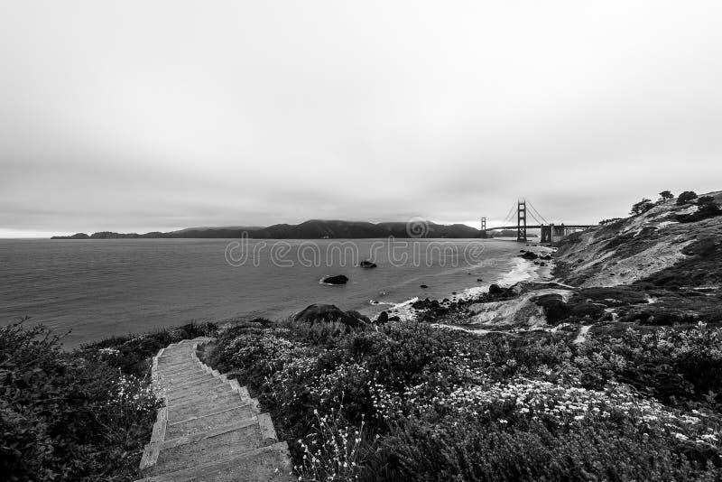 Zonsopgang van Marshall Beach stock afbeelding