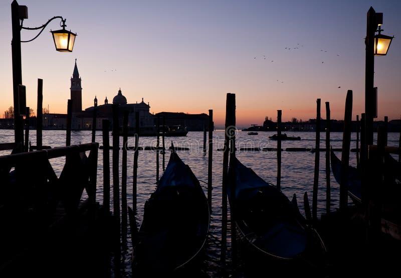 Zonsopgang in Venetië stock afbeelding