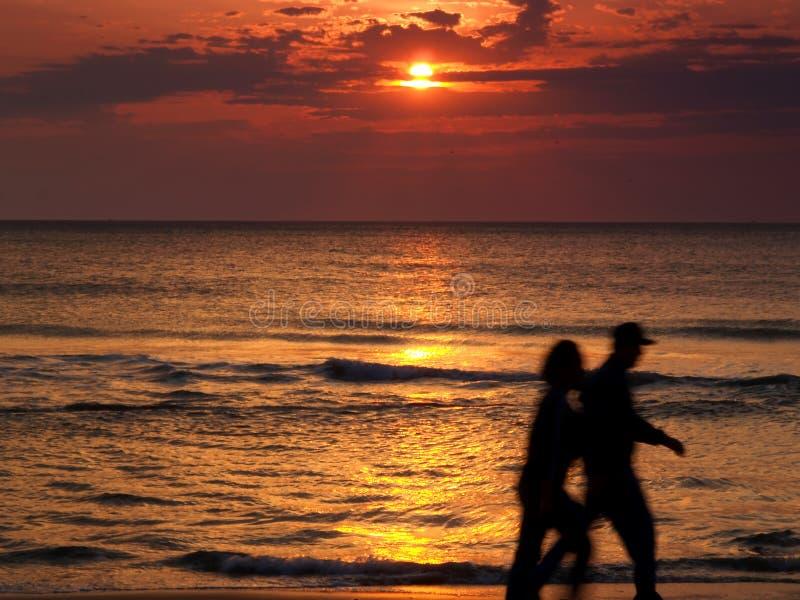 Zonsopgang in Virginia Beach stock foto's