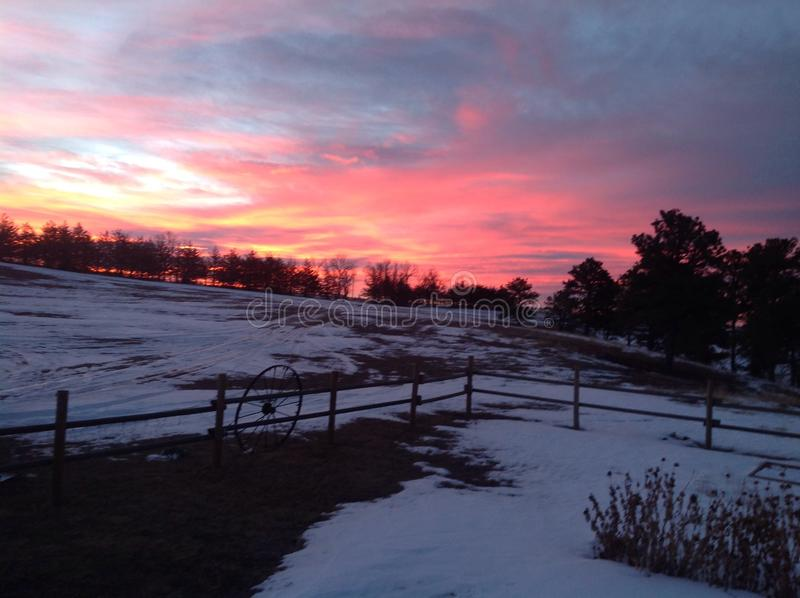 Zonsopgang in westelijk Nebraska stock fotografie