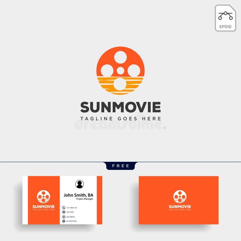 zonsopgang of zonsondergang van het het embleemmalplaatje van het filmbroodje het eenvoudige element van het de illustratiepictog vector illustratie