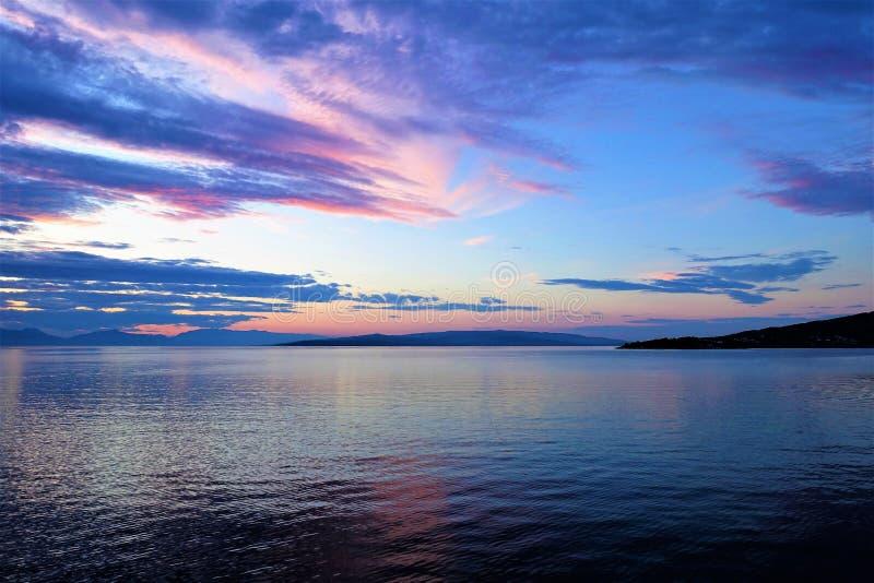 Zonsopgangkust Solta Kroatië royalty-vrije stock fotografie
