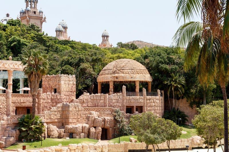 Zonstad, het Paleis van Verloren Stad, Zuid-Afrika stock afbeeldingen