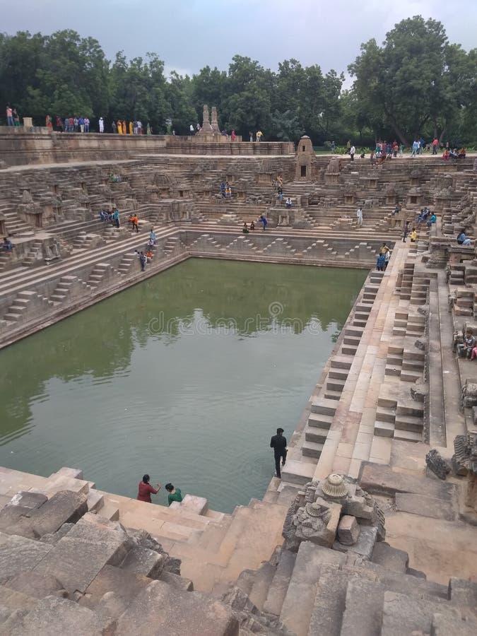 Zontempel in Modhera Gujarat stock fotografie