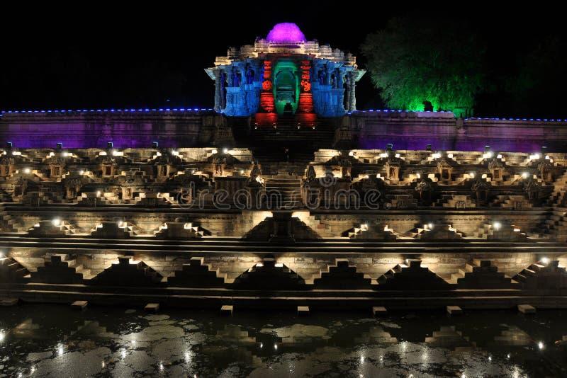Zontempel, Modhera, Gujarat. stock fotografie