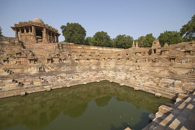 Zontempel in Modhera, Gujarat, India royalty-vrije stock foto's