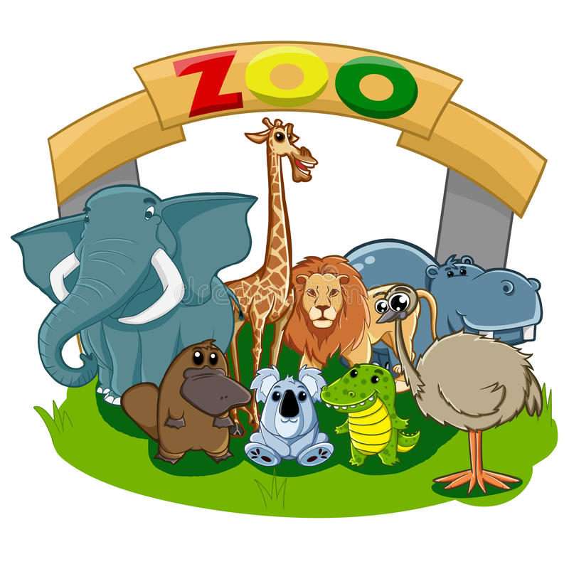 zoo lizenzfreie abbildung