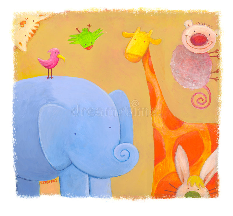 zoo stock illustrationer