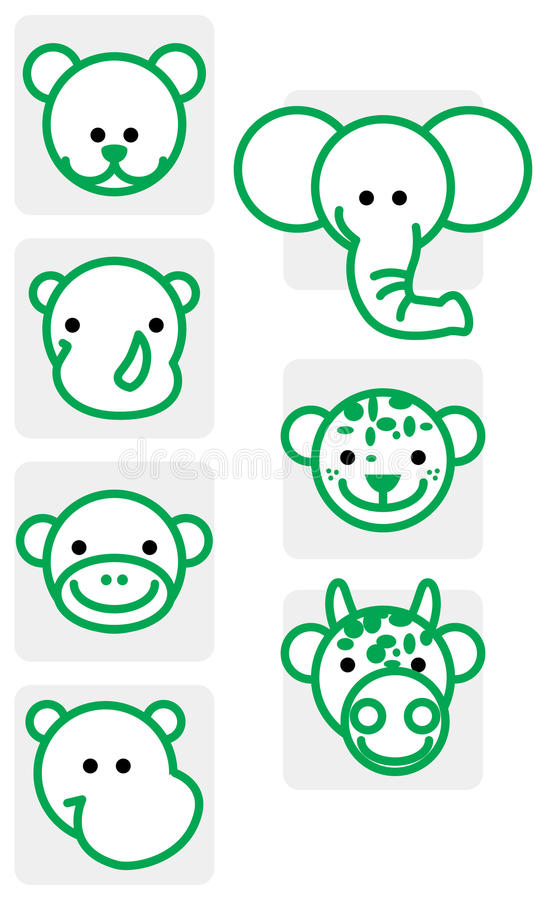 Download Zoo Animal Illustrations Stock Image - Image: 13343311