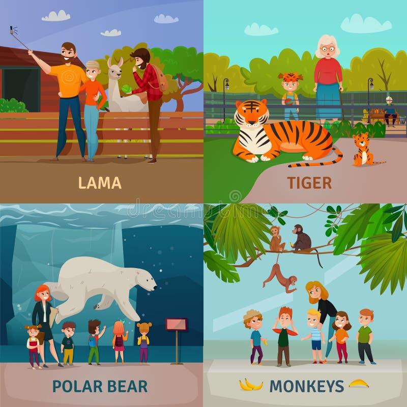 Zoo-Besucher-Konzept vektor abbildung