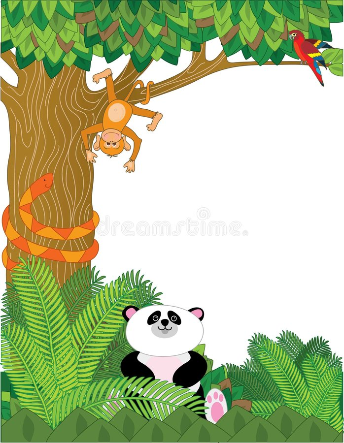 Download Zoo Border stock vector. Illustration of orangutan, fauna - 4686072
