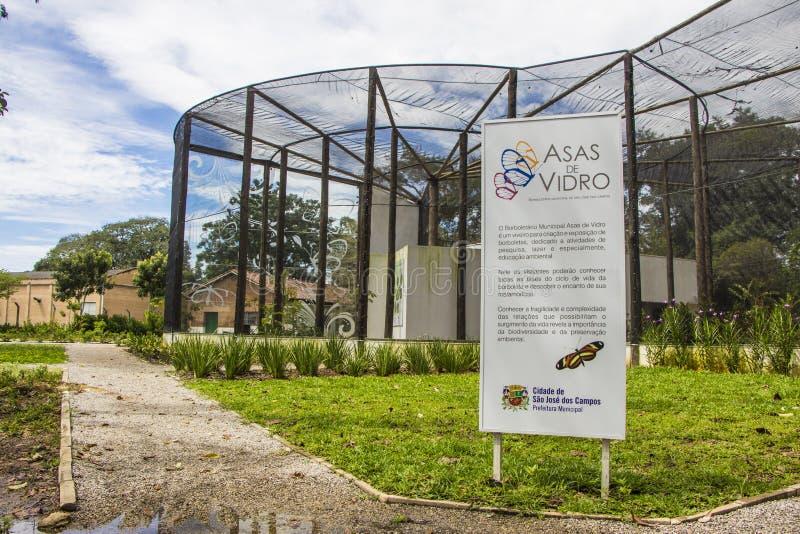 Zoo de papillon - parc de ville, Sao Jose Dos Campos - Brésil image stock