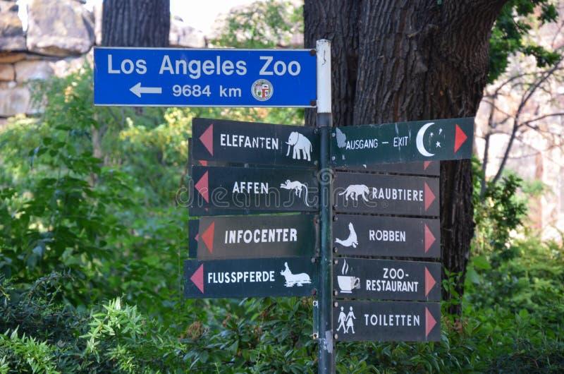 Zoo di Berlino in un giorno di estate fotografie stock libere da diritti