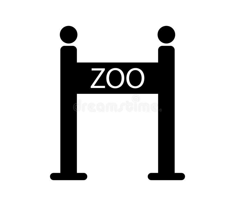 Zoo gate icon stock illustration