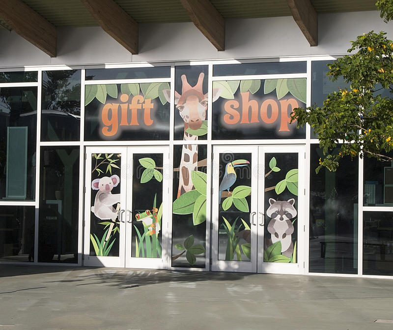 Zoo Gift Shop stock images