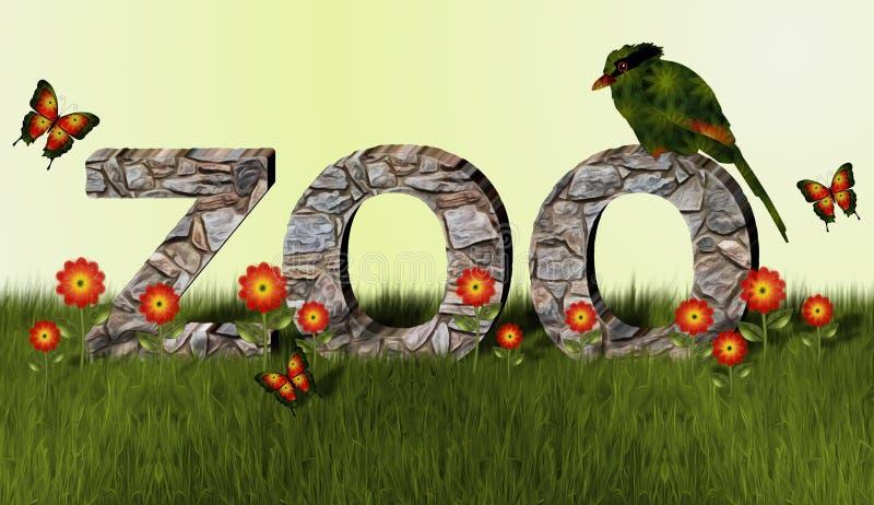 Zoo and Magpie Bird stock image