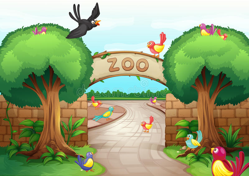 zoo scene stock vector illustration of bird  clipart royalty free vector clipart images Free Vector Ornaments