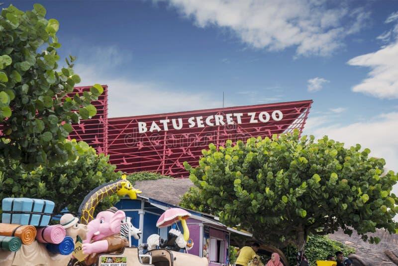 Zoo secret de Batu du plus grand zoo dans Java-Orientale images libres de droits