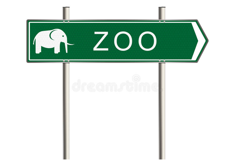 Zoo sign stock illustration