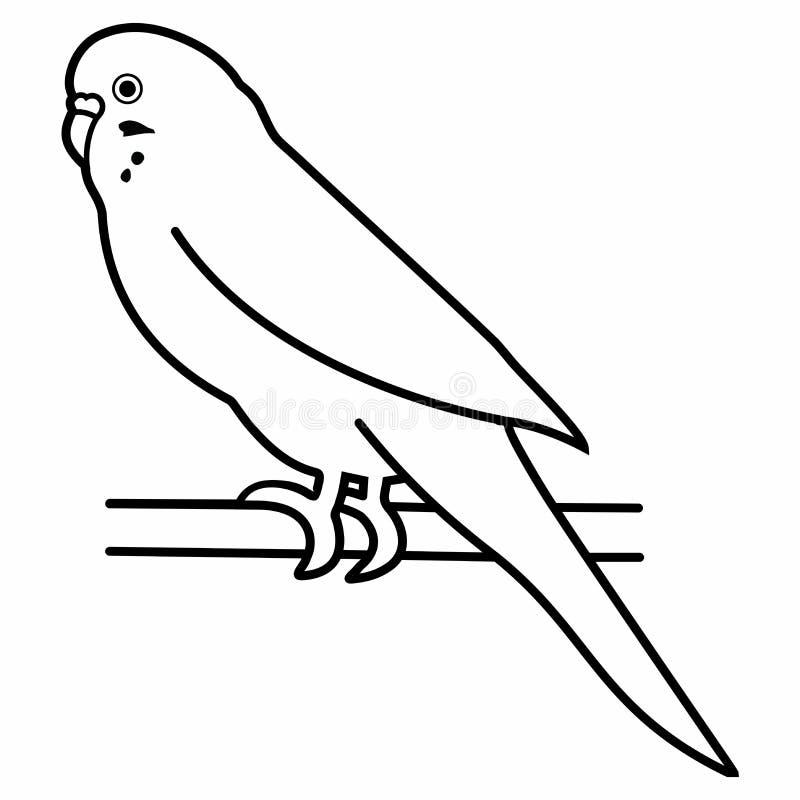 Zoo tropicale della fauna selvatica dell'animale domestico animale del parrocchetto dell'uccello del pappagallo di pappagallino o royalty illustrazione gratis