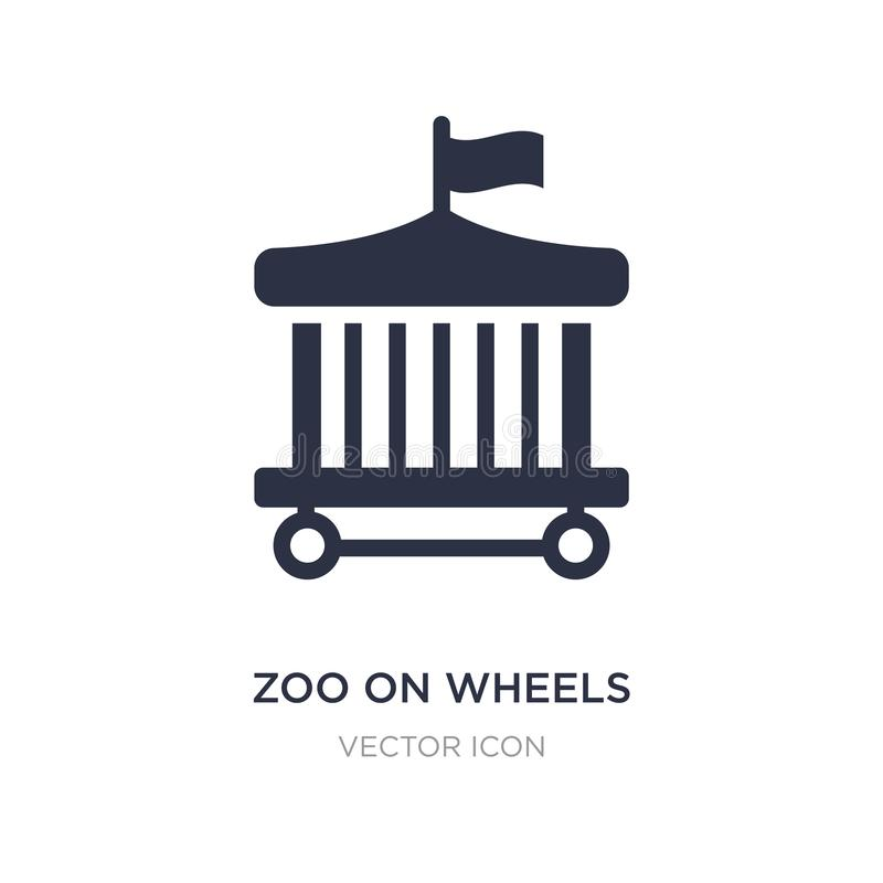 zoo on wheels icon on white background. Simple element illustration from Transport concept stock illustration