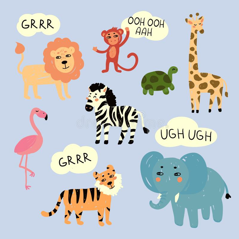 Free Zoo Wild Animals Making Characteristic Sounds Royalty Free Stock Photography - 109699617