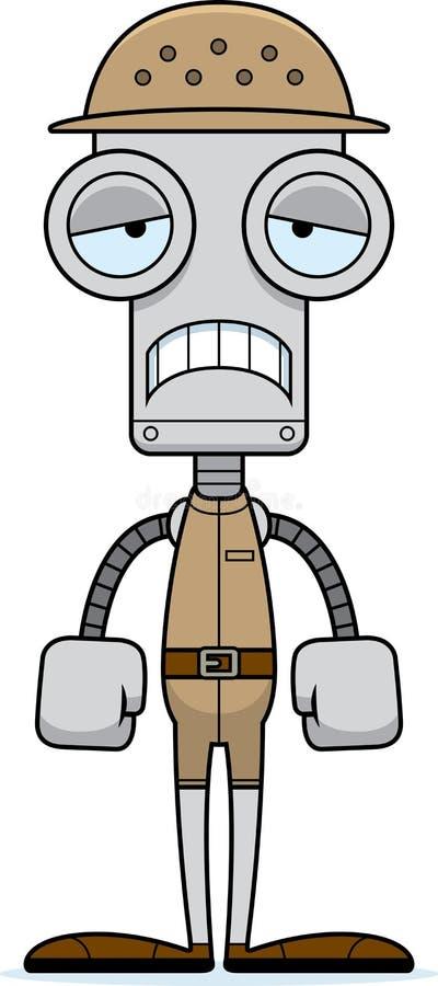 Zookeeper triste Robot de la historieta stock de ilustración