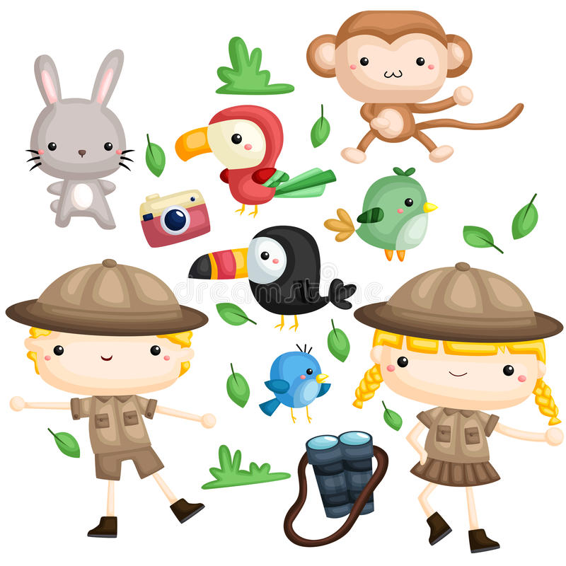 Zookeeper Vector Set vector illustration