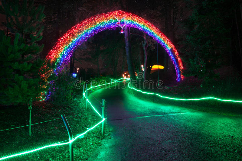 Zoolights at the Point Defiance Zoo in Tacoma, WA. Shington stock images