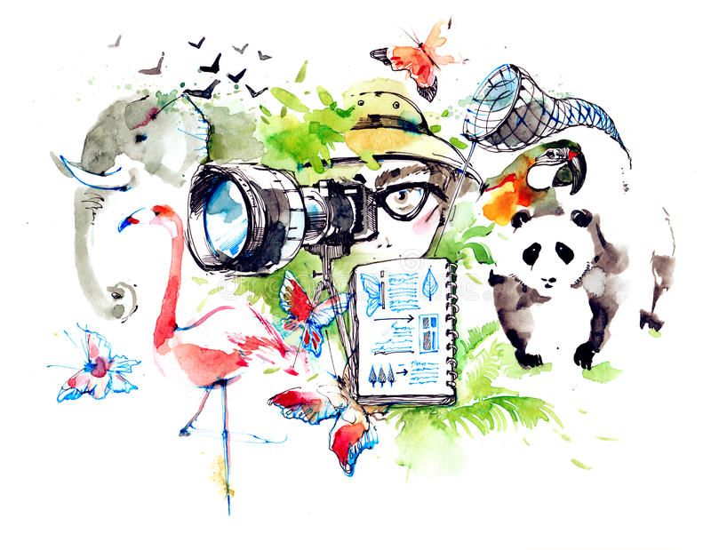 zoologist иллюстрация штока