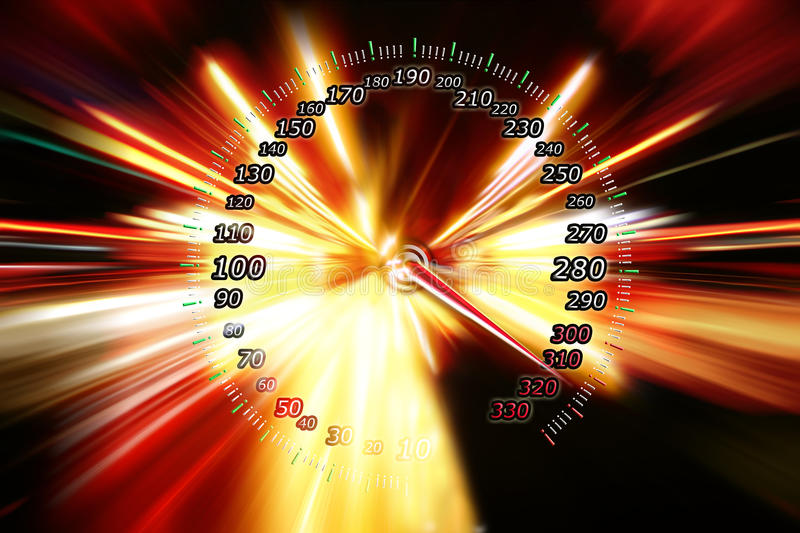 Zoom Acceleration Motion Royalty Free Stock Images