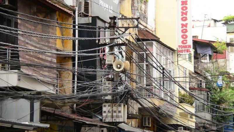 Zoom Aus Propaganda-Lautsprecher Auf Telefonmast - Ho Chi Minh City ...