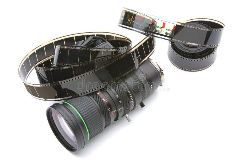Zoom avec le film de 35mm photos stock