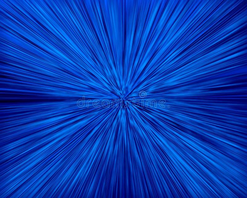 Zoom bleu illustration libre de droits
