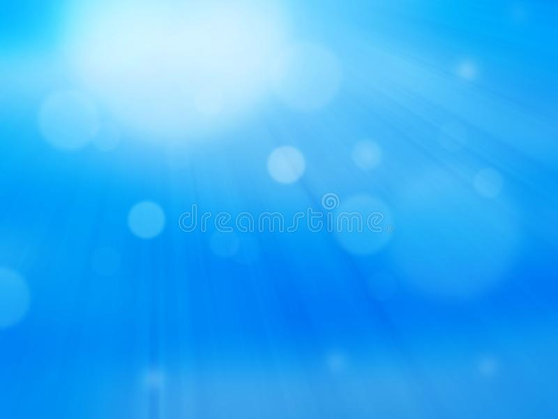 Zoom blurred blue light abstract background. royalty free illustration
