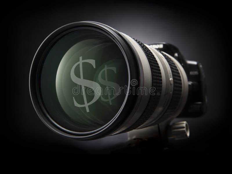 Download Zoom camera stock image. Image of macro, glass, money - 19942475