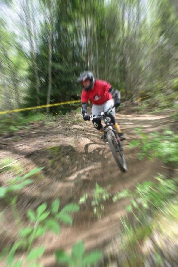 Zoom de la bici de montaña fotografía de archivo libre de regalías