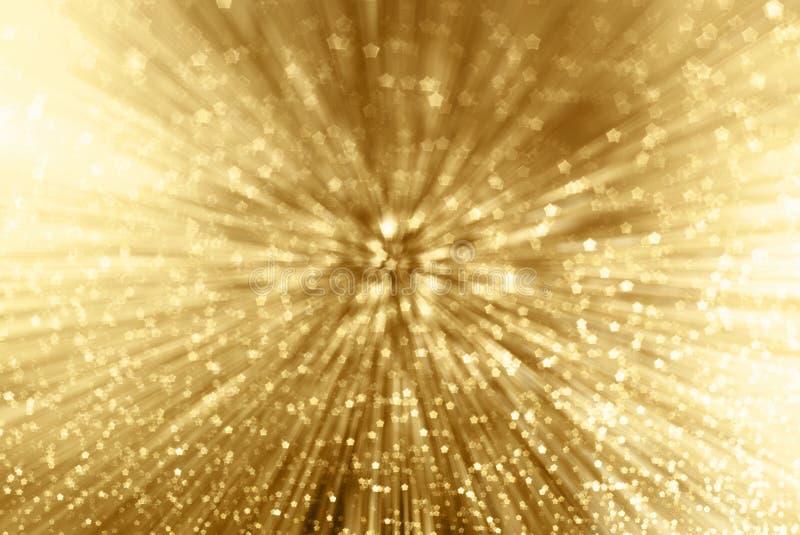 Zoom de la chispa del oro foto de archivo libre de regalías