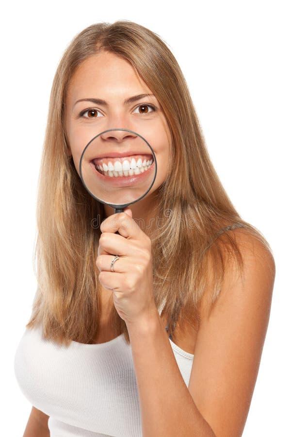 Zoom de los dientes fotografía de archivo