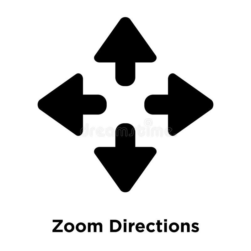 Zoom Directions icon vector isolated on white background, logo c stock illustration