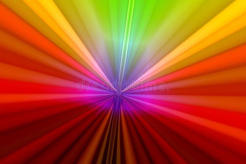 Zoom do arco-íris ilustração do vetor