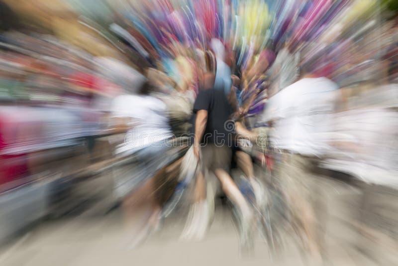 Zoom do grupo de pessoas imagens de stock